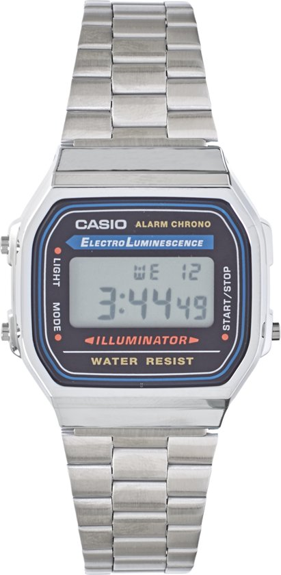 Casio Collection A168WA-1YES - Horloge - Staal - Zilverkleurig - Ø 36 mm