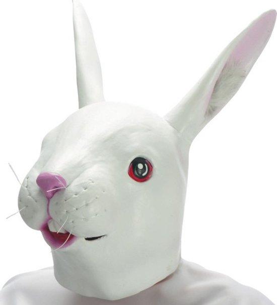 """""""Konijnen latex masker voor volwassenen - Verkleedmasker - One size"""""""