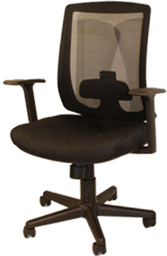Bureaustoel Met Verstelbare Rugleuning.Bol Com Bureaustoel Met Verstelbare Lendensteun Zwart Domo