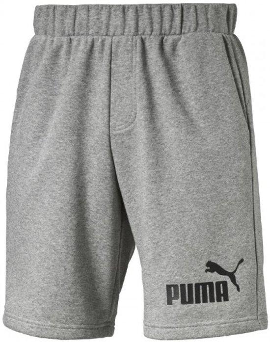 Puma Essential N°1 Sweatshorts korte trainingsbroek - Mannen - Maat M -  grijs