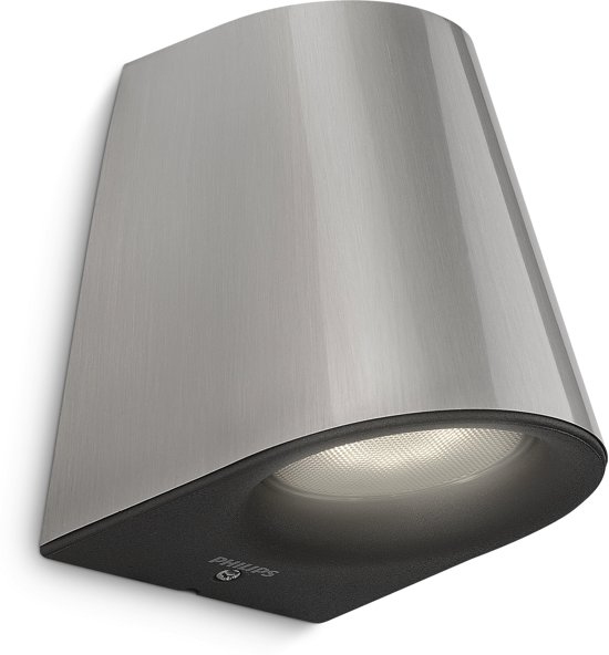 Philips myGarden Virga - Wandlamp - 1 Lichtpunt - RVS - 1 x 270lm