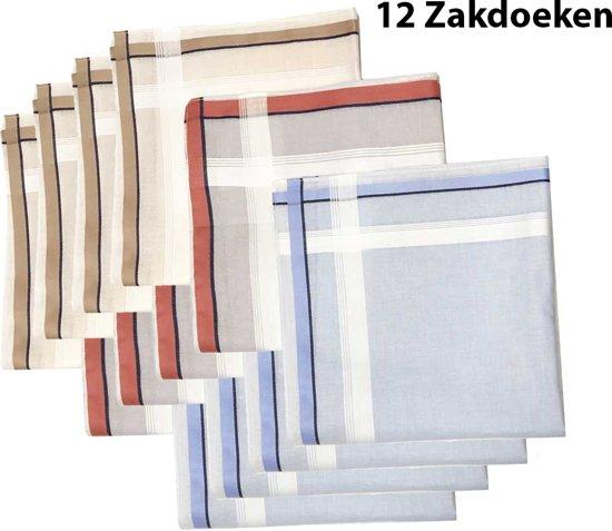 Zakdoeken - Heren - 12 zakdoeken - cadeauset - heren zakdoeken - 7