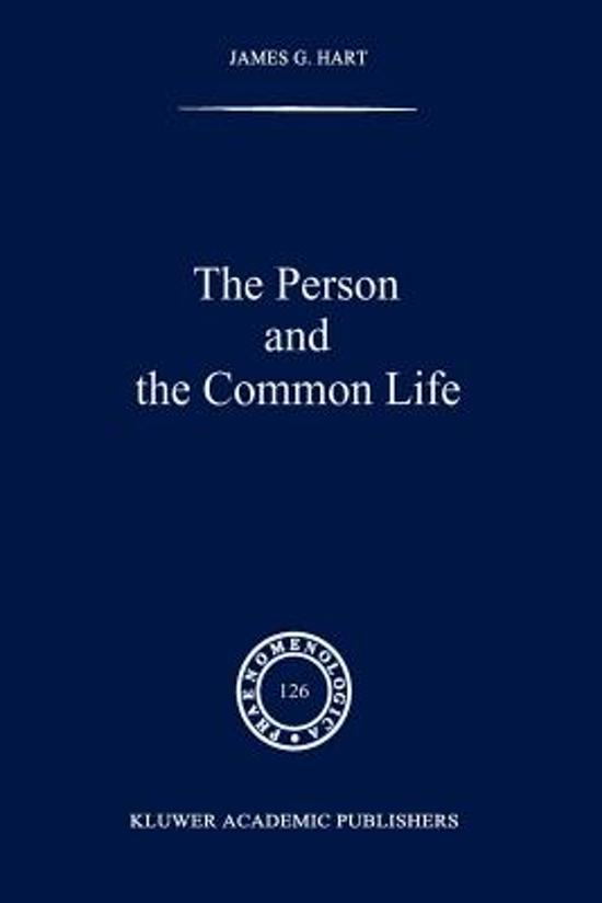 The Person and the Common Life
