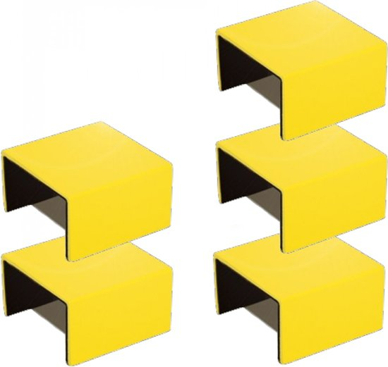 bol.com | Muuto Stacked Clips - Boekenkast - Geel - Aluminium