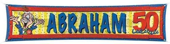 Straatbanier 40x180cm Abraham