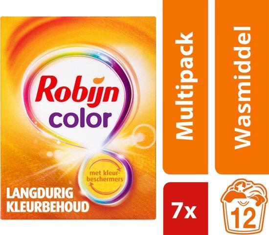 Robijn Color Waspoeder - 84 wasbeurten - 7 x 684 g