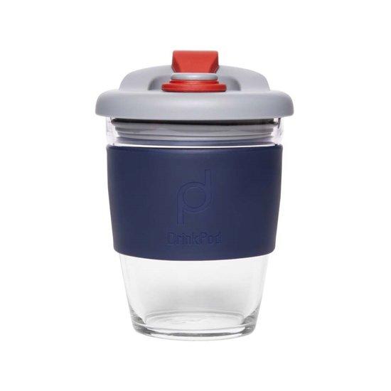 Herbuikbare Koffiebeker - 340ml - Storm Grey - Glas - Pioneer