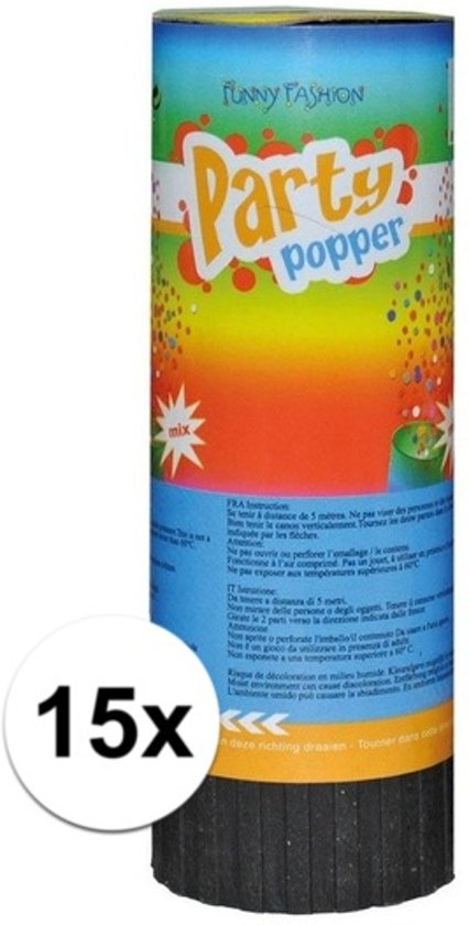 15x Mini party poppers 11 cm Valentinaa