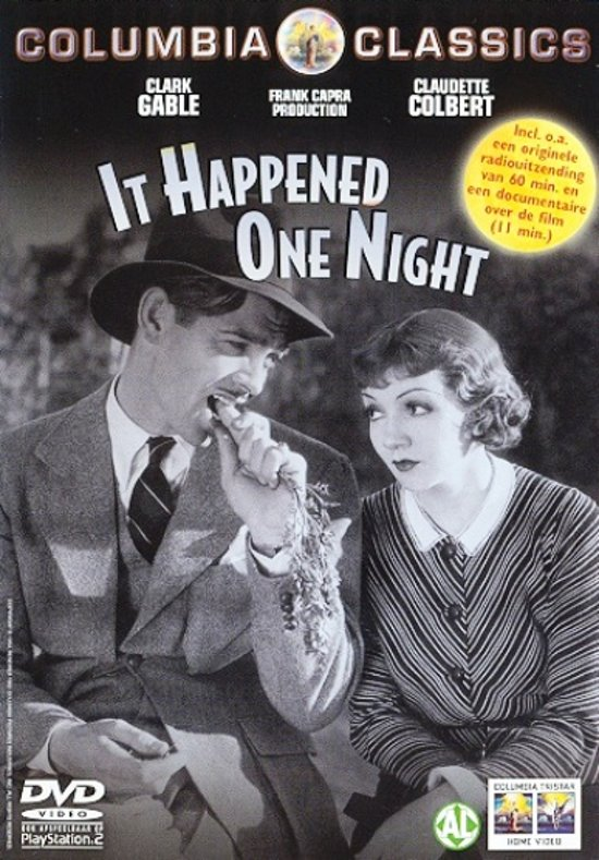 DVD cover van It Happened One Night