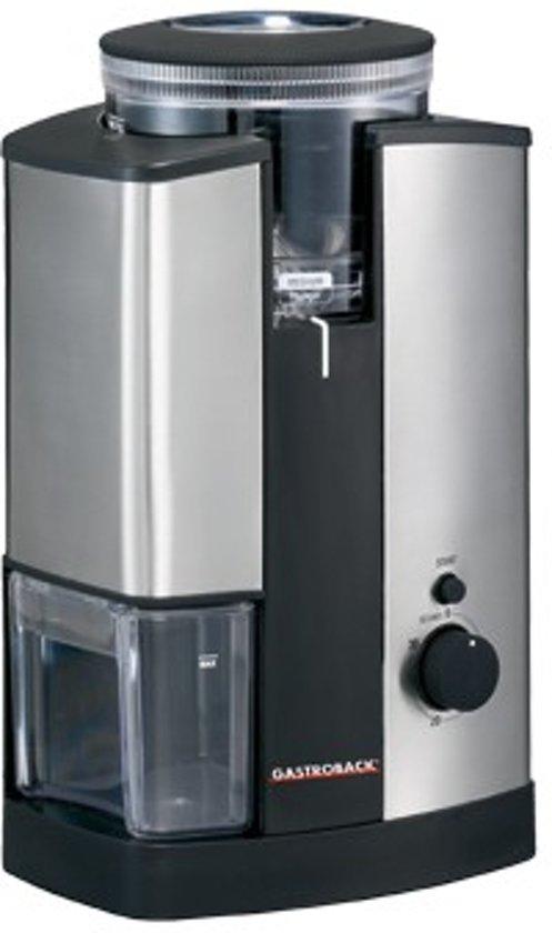 Gastroback Elektrische Koffiemolen zwart/rvs