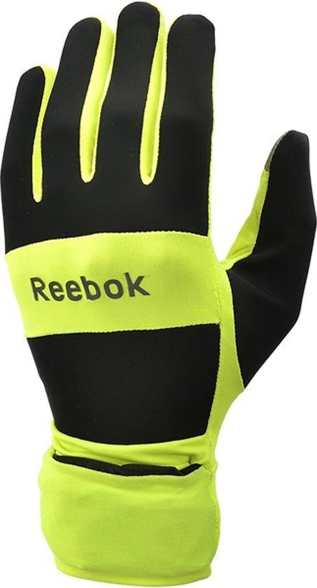 bol com reebok running all weather handschoenen maat s zwart geelreebok running all weather handschoenen maat s zwart geel