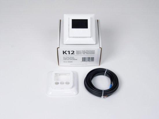 K12 Digitale Klokthermostaat, incl. vloersensor