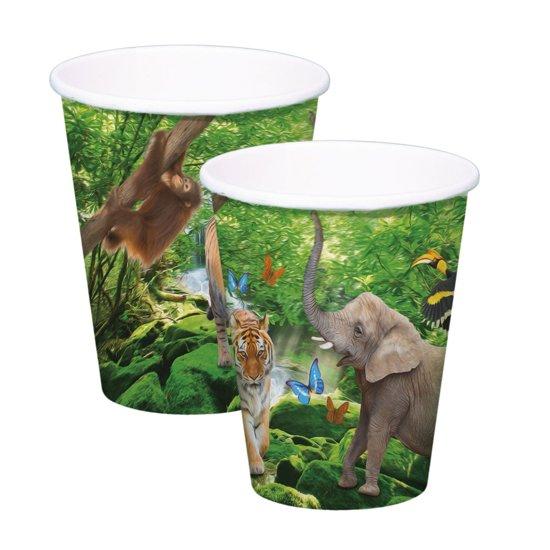 Safari Party Bekers 250ml - 8 stuks