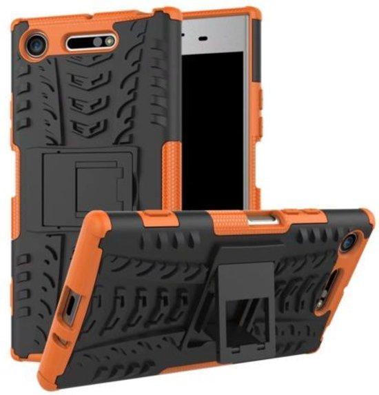 Schokbestendige Back Cover voor Sony Xperia XZ1 Compact - Oranje