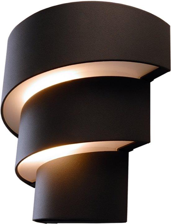 Zoomoi Lute - led - Buiten wandlamp - buitenverlichting - wandverlichting - 9w - Donker grijs