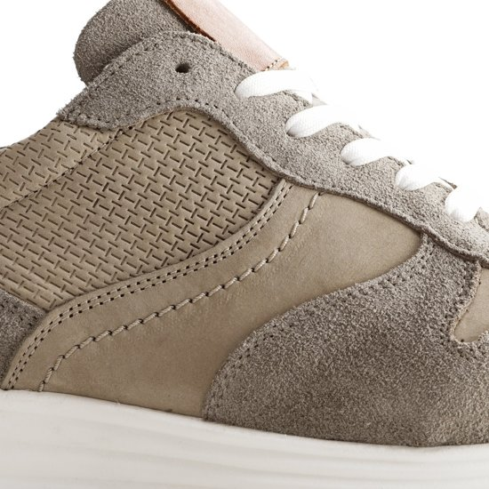 M Taupe Sneaker Maat delayensLeren Heren Nogrz 41 4R5j3AL