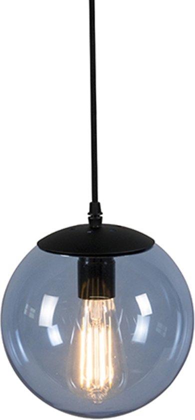 QAZQA Pallon 20 - Hanglamp - 1 lichts - H 1800 mm - blauw