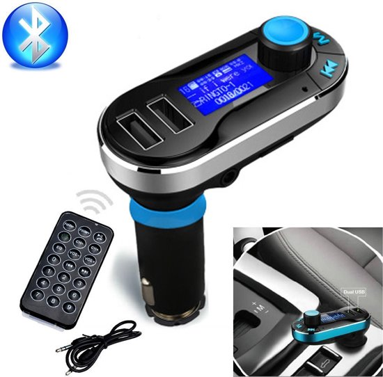 X7 FMDraadloze Bluetooth Auto MP3 Speler / FM transmitter / LED Display / Handsfree bellen / 1x High Speed USB Oplader / SD, TF Card Ondersteuning / USB Stick / 3.5mm Jack AUX Voor Smartphone iPhone / Samsung / HTC / Sony / Huawei
