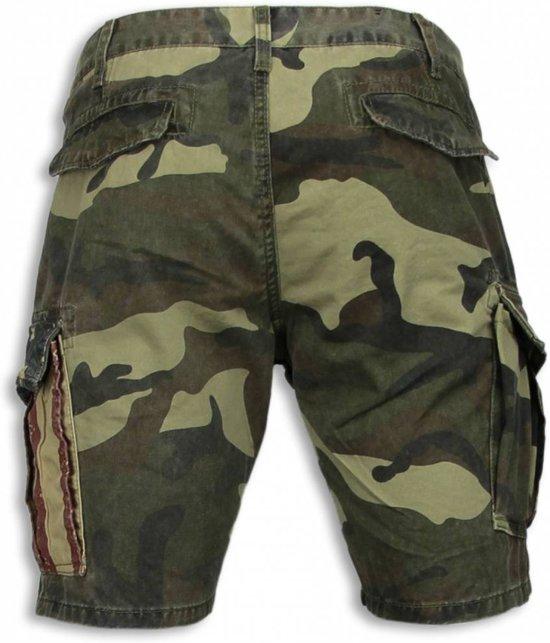 Heren Camouflage Korte Broek.Shorts Fit 36 Amp Buttons Camouflage Maten Slim Heren Bread Licht