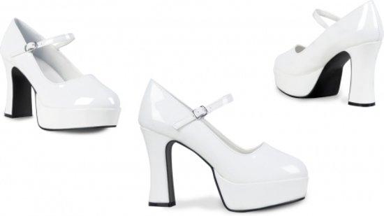 Disco schoenen voor dames wit met hoge hak 37