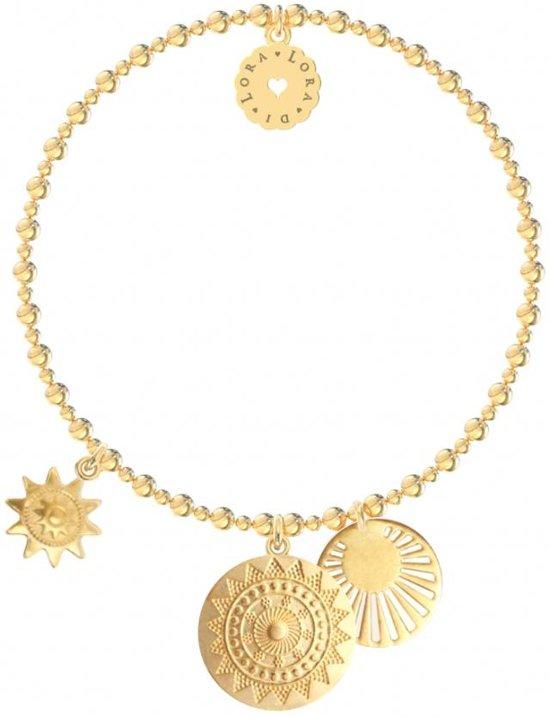 Lora di Lora Armband Bachata Sunny. Een individueel bandje 18K Vermeil Goud  18 cm