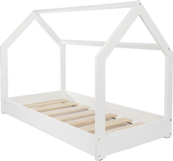 Kinderbed Met Huisje.Bol Com Houten Bed Huisbed Huis Bed Kinderbed 160x80 Wit