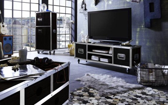Houten Tv Kast Op Wielen.Vhcollection Tv Meubel Op Wielen Darkboxes