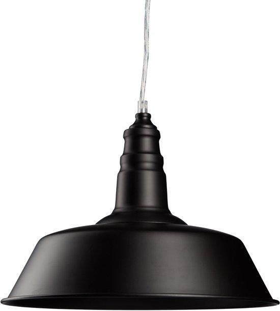 relaxdays Hanglamp - eetkamerlamp - woonkamerlamp - plafondlamp - pendellamp zwart