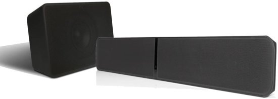 Bluesound Pulse Soundbar 2i + Pulse Subwoofer - Zwart (voordeel: â¬200)