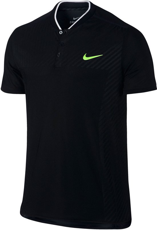 new products 20592 d8c1a Nike Court Zonal Cooling Advantage Tennis Polo Heren Sportpolo - Maat L -  Mannen - zwart
