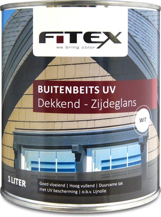 Top bol.com | Fitex Buitenbeits UV Zijdeglans - Wit - 1 liter OR81