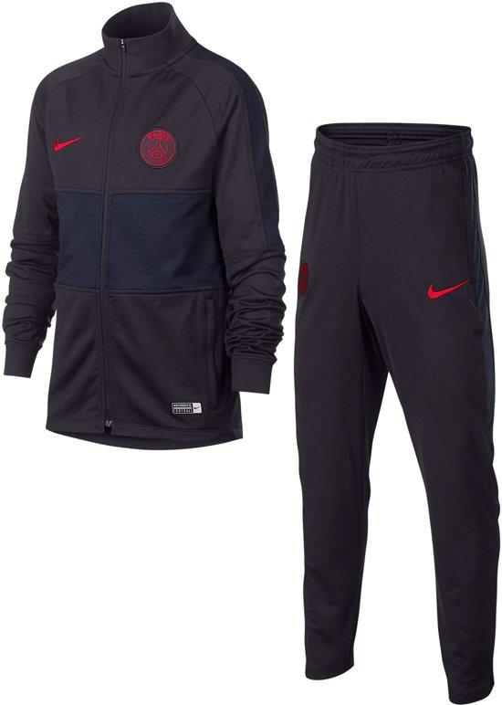 Nike Paris Saint Germain Y Dry Strike Trainingspak 20192020 Kinderen Oil GreyOil GreyObsidian(University Red) Maat 122