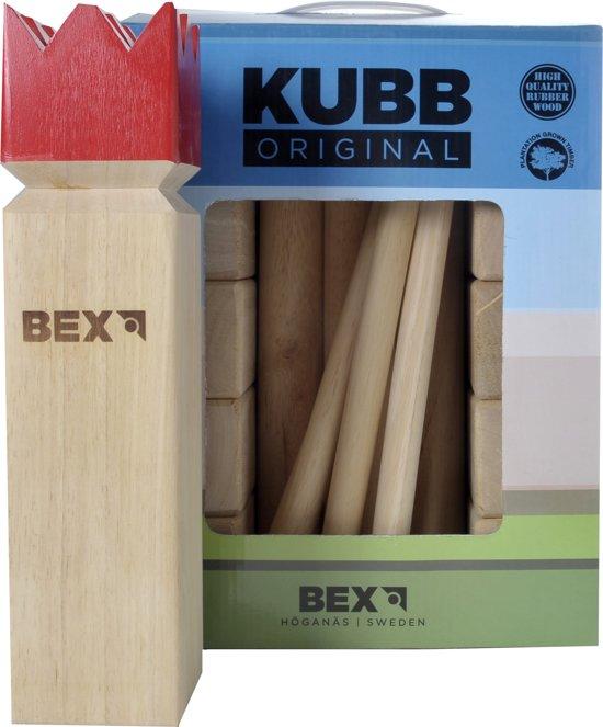 Bex Sport Original Kubb Rode Koning - Rubberhout