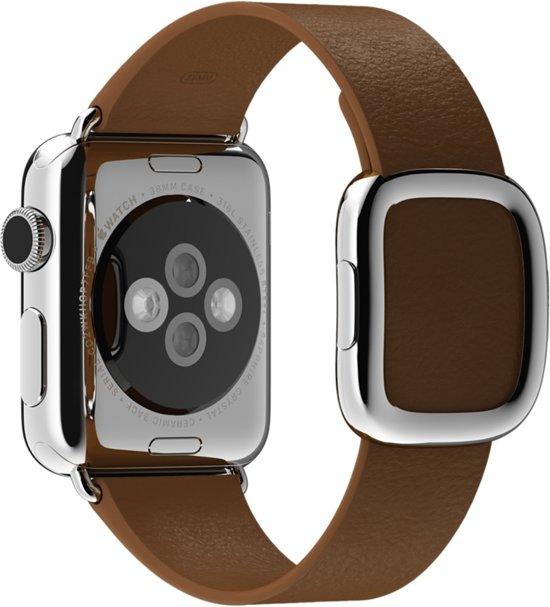Bandje met moderne gesp voor de Apple Watch - 38 mm - Medium - Bruin