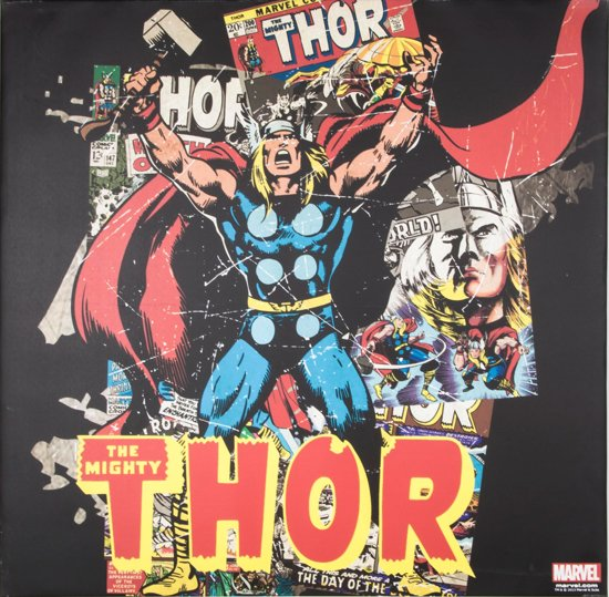 Marvel Comics - Canvas Schilderij - Mighty Thor - 70x70cm
