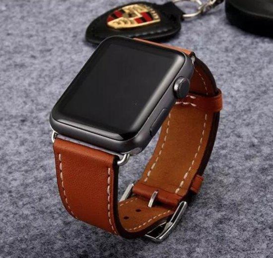 PU Lederen Band Voor Apple Watch Series 1/2/3/4 38 MM /40 MM - iWatch Armband Polsband Strap - Bruin