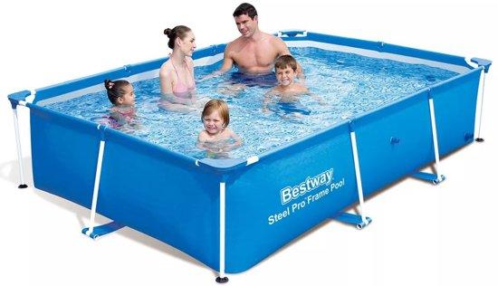 Bestway zwembad rechthoekig met stalen frame 259 x 170 61 cm 56403