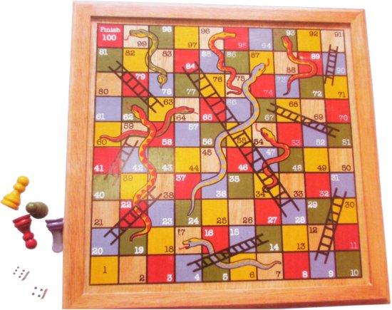 Afbeelding van het spel Slangen en ladderspel van hout