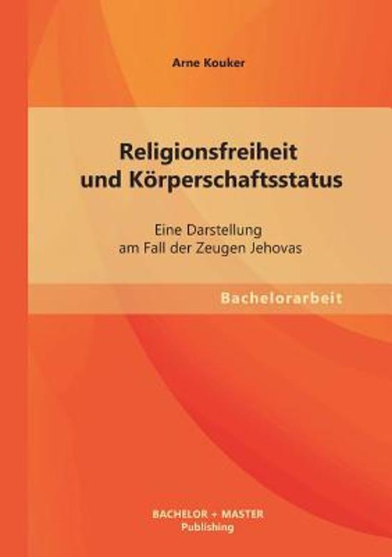 Religionsfreiheit Und K rperschaftsstatus