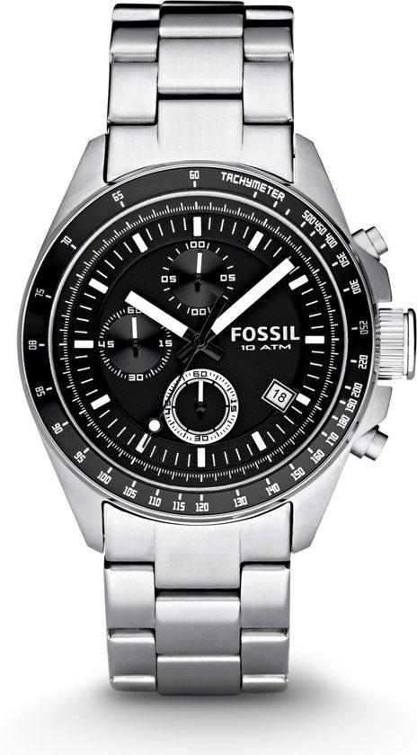 Fossil CH2600 - Horloge - 42 mm - Zilverkleurig