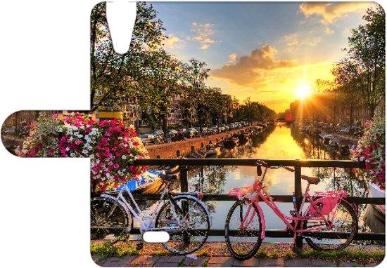Wiko Rainbow Jam 4G Leuk Hoesje Amsterdamse Grachten in Ruitenveen