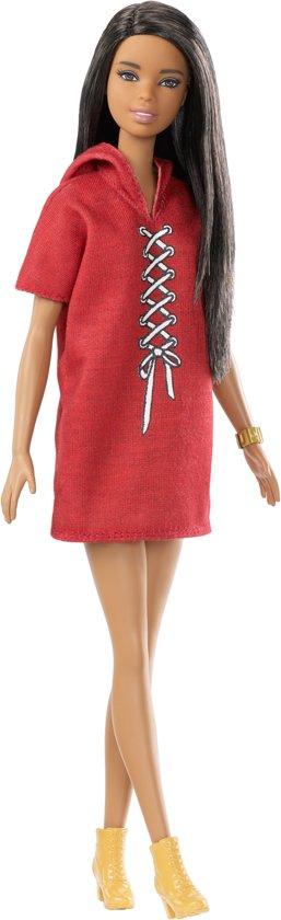 Barbie Fashionistas Met Rode Jurk met Capuchon - Barbiepop