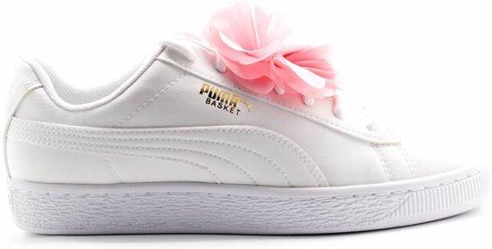 690d9c3b2b9 bol.com | Basket Flower Jr / Puma White-Pale Pink - maat 39