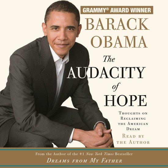Boek cover The Audacity of Hope van Barack Obama (Onbekend)