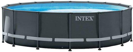 Intex Opzetzwembad Met Accessoires Ultra Xtr Frame 488 X 122 Cm Antraciet