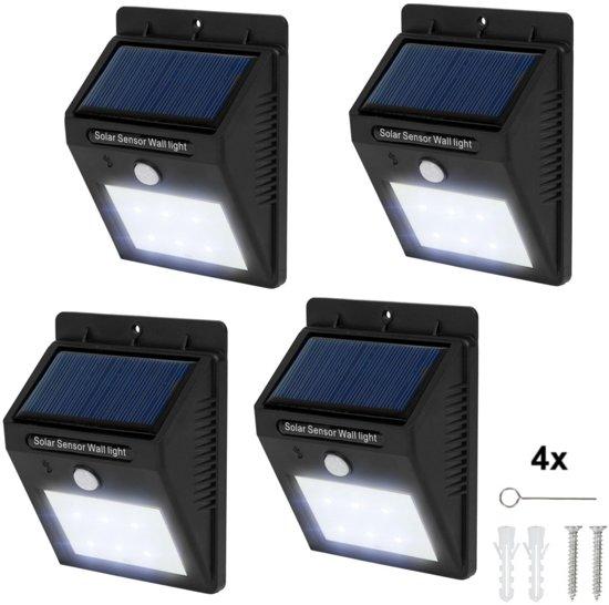 bol.com | TecTake - 4* LED Solar tuinverlichting wandlamp ...
