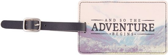 Wanderlust 'And so the adventure begins' Luggage Tag Bagage Label