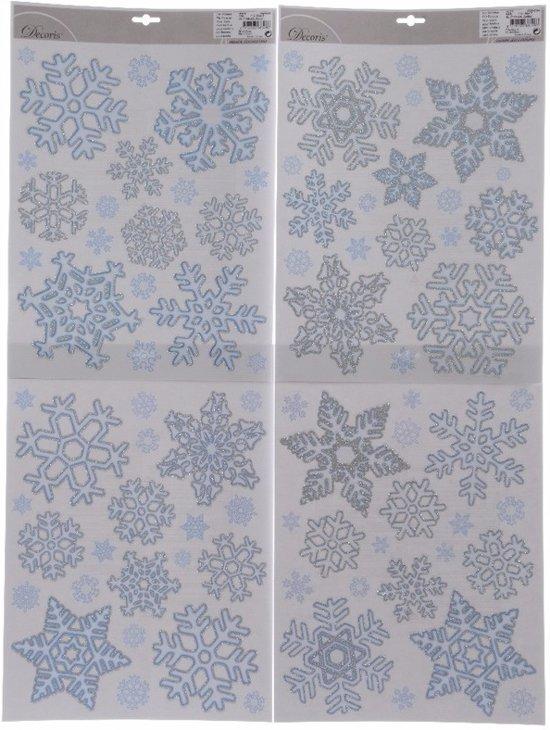 Extreem bol.com | Sneeuwvlokken raamsticker / kerst raamdecoratie - 30 x 46 cm XU61