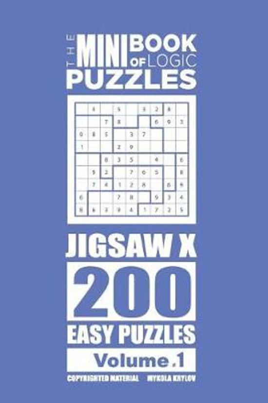 The Mini Book of Logic Puzzles - Jigsaw X 200 Easy (Volume 1)