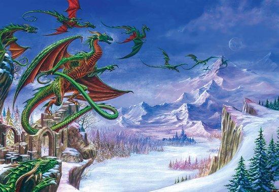Fotobehang Dragon   XXXL - 416cm x 254cm   130g/m2 Vlies
